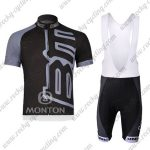 2011 Team BMC Riding Bib Kit Black Grey