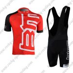 2011 Team BMC Riding Bib Kit Red Black