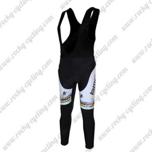 2011 Team BMC UCI Champion Racing Long Bib Pants Tights Black White Rainbow