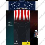 2017 Team ASTANA America Champion Cycling Set Blue Red