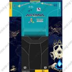 2017 Team ASTANA Cycling Set Blue Black