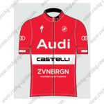 2017 Team Audi Castelli Cycling Jersey Maillot Shirt Red