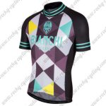 2017 Team BIANCHI MILANO Biking Jersey Maillot Shirt Black Green White