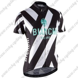 2017 Team BIANCHI MILANO Biking Jersey Maillot Shirt Black White Green