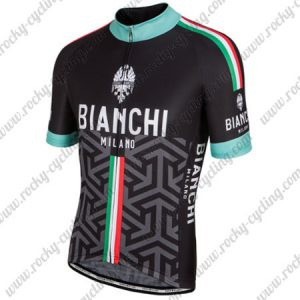 2017 Team BIANCHI MILANO Italy Cycle Jersey Maillot Shirt Black Green