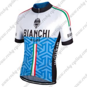 2017 Team BIANCHI MILANO Italy Cycle Jersey Maillot Shirt White Blue