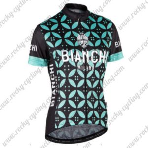 2017 Team BIANCHI MILANO Riding Jersey Maillot Shirt Black Green Flower