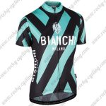 2017 Team BIANCHI MILANO Riding Jersey Maillot Shirt Black Green White