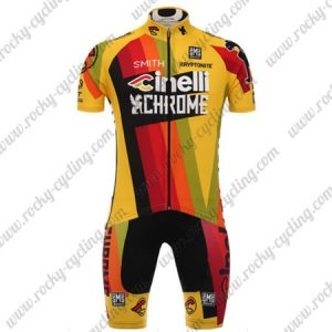 2017 Team Cinelli CHROME Cycling Set Yellow Red Black