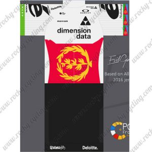 2017 Team Dimension data Cycling Kit White Red