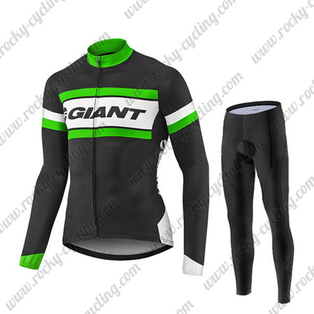 2017 Team GIANT Winter Cycle Apparel Thermal Fleece Riding Long ... 731f53d0c