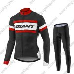 2017 Team GIANT Cycling Long Suit Black White Red