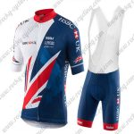 2017 Team HSBC UK Cycling Bib Kit White Blue Red