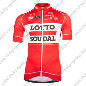 2017 Team LOTTO SOUDAL Cycling Jersey Maillot Red