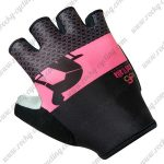 2017 Team LaGazzetta dello Sport Cycling Gloves Mitts Black Pink