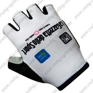 2017 Team LaGazzetta dello Sport Cycling Gloves Mitts White