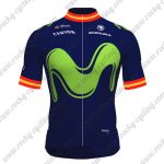 2017 Team Movistar Spain Cycling Jersey Maillot Shirt Blue