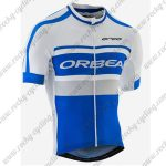 2017 Team ORBEA Cycling Jersey Maillot White Blue