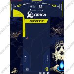 2017 Team ORICA SCOTT Cycling Set Blue Yellow
