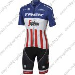 2017 Team TREK Segafredo America Champion Cycling Set Blue Red