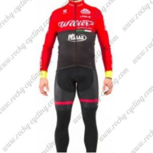 2017 Team Wieier ITALIA Cycling Suit Red Black