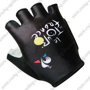 2017 Tour de France Cycling Gloves Mitts Black