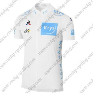 2017 Tour de France Krys Cycling Jersey Maillot Shirt White