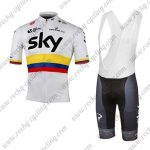 2017 Team SKY Colombia Cycling Bib Kit White