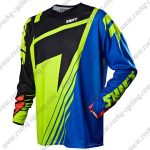 2013 SHIFT MTB Apparel Off Road Jersey Black Yellow Blue