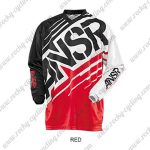 2014 ANSR Motocross MTB Apparel Racing Jersey Black White Red