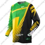 2014 SHIFT SIXSTAR MTB Apparel Off Road Jersey Green Yellow Black