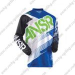 2015 ANSR Alpha Motocross MTB Outfit Racing Jersey Black White Blue