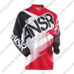 2015 ANSR Motocross MTB Apparel Racing Jersey Black White Red