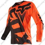 2015 FOX Motocross Racing Jersey Shirt Black Orange