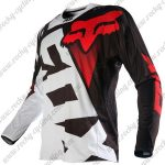 2015 FOX Motocross Racing Jersey Shirt Black White Red
