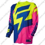 2015 SHIFT MTB Apparel Off Road Jersey Yellow Blue Pink