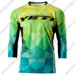 2015 YETI Motocross MTB Outfit Off Road Riding Jersey Yellow Blue Gradient