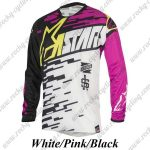 2016 ANSR Motocross MTB Apparel Off Road Jersey Black White Pink