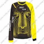 2016 CONQUEST RACING Motocross MTB Outfit Off Road Jersey Black Yellow