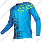 2016 FOX Downhill MTB Racing Jersey Shirt Blue Black