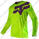 2016 FOX Downhill MTB Racing Jersey Shirt Green