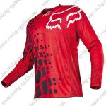 2016 FOX Downhill MTB Racing Jersey Shirt Red Black