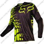 2016 FOX Downhill MTB Racing Jersey Shirt Yellow Black