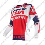 2016 FOX HONDA Motocross Racing Jersey Shirt Red White Blue