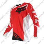 2016 FOX MTB Downhill Racing Jersey Shirt Red White