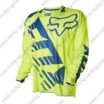 2016 FOX MTB Racing Jersey Shirt Yellow Blue