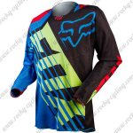 2016 FOX Motocross Racing Jersey Shirt Black Blue