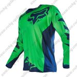 2016 FOX Motocross Racing Jersey Shirt Green Blue