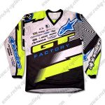 2016 GT FACTORY Motocross Racing Jersey Black Yellow White
