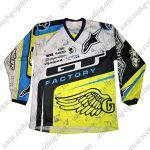 2016 GT FACTORY Motocross Racing Jersey White Black Yellow